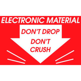 """Electronic Material Don't Drop 3"""" x 3"""" - Red / White"""