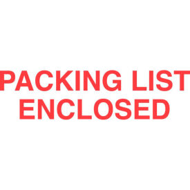 """Packing List Enclosed 2"""" x 3"""" - White / Red"""