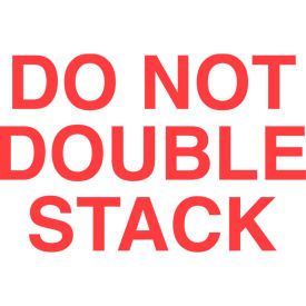 """Don't Double Stack 3"""" x 5"""" - White / Red"""