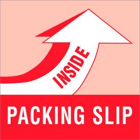 """Packing Slip Inside 4"""" x 4"""" - White / Red"""