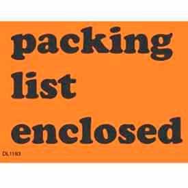 "3"" x 4"" Packing List Enclosed - Fluorescent Orange / Black"