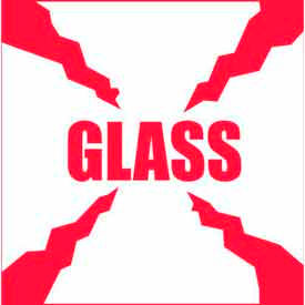 "Glass 4"" x 4"" - White / Red"