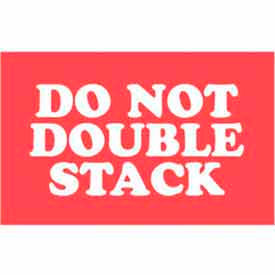 """Don't Double Stack 3"""" x 5"""" - Red / White"""