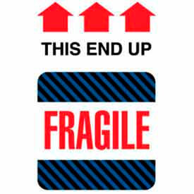 """Fragile This End Up 6"""" x 4"""" - White / Red / Black / Blue"""
