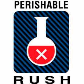 "Perishable Rush 6"" x 4"" - White / Red / Black / Blue"