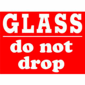 """Glass Do Not Drop 3"""" x 4"""" - Red / White"""