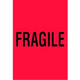 "Fragile 4"" x 6"" - Fluorescent Red / Black"