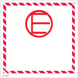 """Dangerous Goods 4"""" x 4"""" - White / Black / Red"""