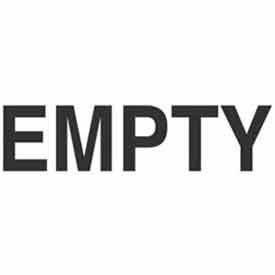"Empty 6"" x 6"" - White / Black"