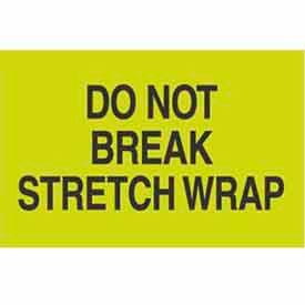 "Don't Break Stretch Wrap 2"" x 3"" - Fluorescent Green / Black"
