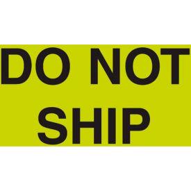"""Do Not Ship 3"""" x 5"""" - Fluorescent Green / Black"""