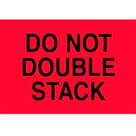 """Do Not Double Stack 4"""" x 6"""" - Fluorescent Red / Black"""