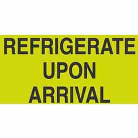 "Refrigerate Upon Arrival 3"" x 5"" - Fluorescent Green / Black"