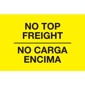 "No Top Freight Bilngual 3"" x 5"" - Bright Yellow / Black"