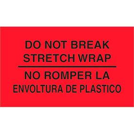 "Do Not Break - Bilingual 3"" x 5"" - Fluorescent Red / Black"