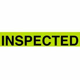 """Inspected 1-3/8"""" x 2"""" - Fluorescent Green / Black"""