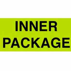 """Inner Package 1-3/8"""" x 2"""" - Fluorescent Green / Black"""