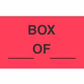 "Box Of 1-3/8"" x 2"" - Fluorescent Red / Black"