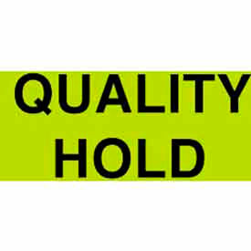 """Quality Hold 2"""" x 3"""" - Fluorescent Green / Black"""