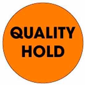 "Quality Hold 2"" Dia. - Fluorescent Orange / Black"