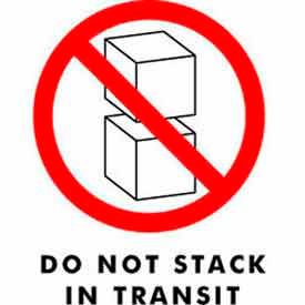 "Don't Stack In Transit 4"" x 6"" - White / Red / Black"