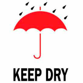 "Keep Dry 4"" x 6"" - White / Red / Black"