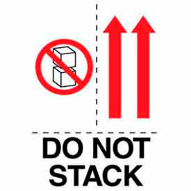 """Do Not Stack w/ Arrows 4"""" x 6"""" - White / Red / Black"""