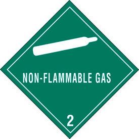 """Hazard Class 2 - Non-Flammable Gas 4"""" x 4"""" - Green / White"""