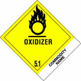"Oxidizer-Substance 4"" x 4-3/4"" - Yellow / Black"