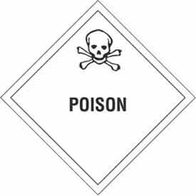 """Poison 4"""" x 4"""" Subsidiary Risk - White / Black"""