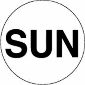 "Sun 2"" Dia. - White / Black"