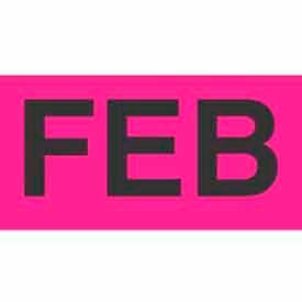 "Feb 2"" x 3"" - Fluorescent Pink / Black"