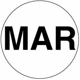 "Mar 2"" - White / Black"