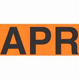 "Apr 2"" x 3"" - Fluorescent Orange / Black"