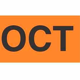 "Oct 2"" x 3"" - Fluorescent Orange / Black"