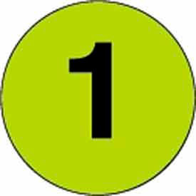 """3"""" Dia. Disc With# 1 - Fluorescent Green / Black"""