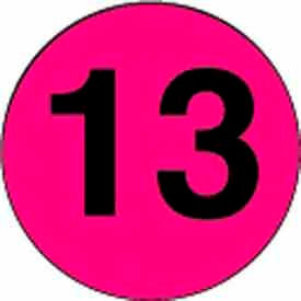 """2"""" Dia. Disc With #13 - Fluorescent Pink / Black"""