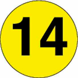 """2"""" Dia. Disc With #14 - Bright Yellow / Black"""