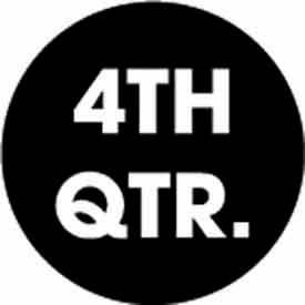 "4th Quarter 3"" Dia. - Black / White"