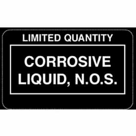 "Corrosive Liquid NOS 2-1/4"" x 1-3/8"" - White / Black"