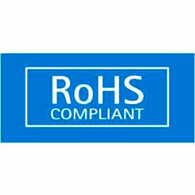 "RoHS Compliant 1/2"" x 1"" - Blue / White"