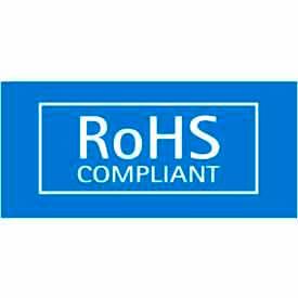 "RoHS Compliant 1/2"" x 1"" - Blue / White"