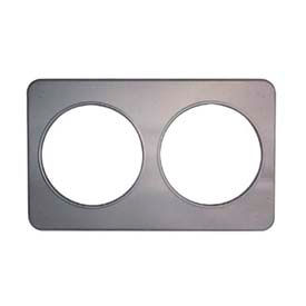 "Duke-Stainless Steel Adapter Plate, 2-8-1/2"" Inset Holes, 13""W X 21""L"