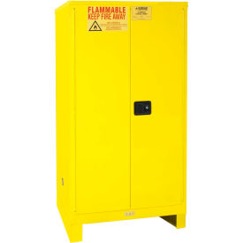 """Global™ Flammable Cabinet With Legs - Manual Close Double Door 60 Gal - 34""""W x 34""""D x 69""""H"""