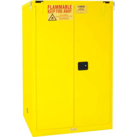 """Global™ Flammable Cabinet - 90 Gallon - Self Close Double Door - 43""""W x 34""""D x 65""""H"""