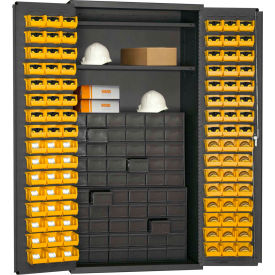 Bins Totes Containers Cabinets Durham Small Parts Storage Cabinet 501 Dlp 60dr11 96 2s 95 W 60 Drawers 2 Shelves B517779