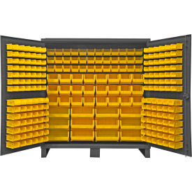 "Durham Bin Cabinet HDC72-240-95 - 12 Gauge With 240 Hook-On Bins, 72""W x 24""D x 78""H"