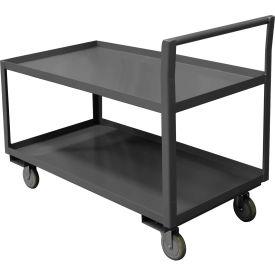 "Durham Mfg.® Low Deck Service Cart LDO-3048-2-ALU-95 - 48""L x 30""W  All Lips Up 1200 Lb. Cap."