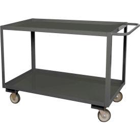 Durham Mfg.® Stock Service Cart RSC-2436-2-3K-TLD-95 - 3000 Lb. Cap. Top Lip Down 2 Shelves