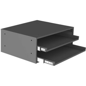 Durham Slide Rack 302-95 - For Large Compartment Storage Boxes - Two Drawer